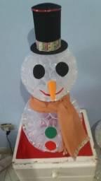 Boneco de neve artesanal