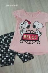 Conjunto rosa bebê Tam P