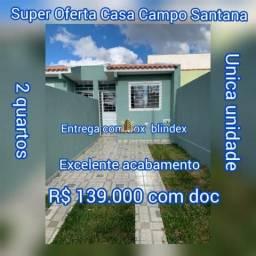 CASA DE 2 QUARTOS NO CAMPO DO SANTANA