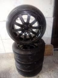 Roda aluminio aro 18 COM PNEU