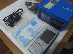 Nokia X2-00 N OV O Xpressmusic Desbloq & Original ( Blue and Silver Color ) Chama Alto