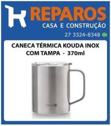 Caneca Térmica Kouda Com Tampa Inox - 370ml
