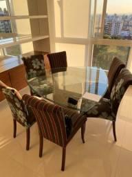 Conjunto de mesa e cadeiras - 6 lugares