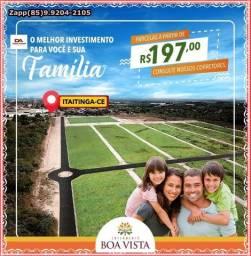Loteamento Itaitinga- Marque sua visita- *@!