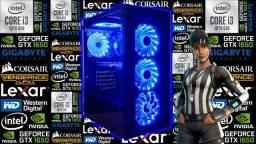 PC Gamer NOVO c/ Intel i3-10100 de 10ª Geração + GTX 1650 4GB