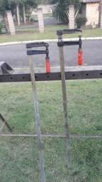 Prensa fechar janelas, portas e 2 Sargentos de 1,3 metros