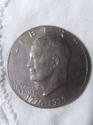 Vendo moeda de 1976 dólar americano edição comemorativa.