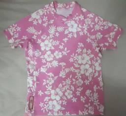 Blusinha floral para Mar/piscina M veste Tam.12