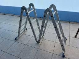 Título do anúncio: Escada multifuncional Alumínio; 8 em 1; 4×4; 16 degraus