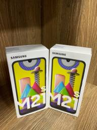Galaxy M21s azul 64GB novo ( LOJA FÍSICA )