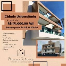 Oportunidade no Cidade Universitária, 2 Quartos sendo 1 Suíte por 171Mil!!!