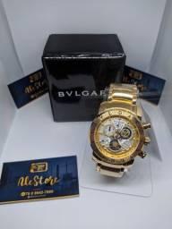 PROMOÇÃO. Vendo Relógios BVLGARI Skeleton Dourado.