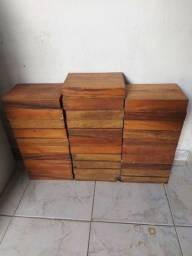 Caixas de madeira, para lanchonete, hamburgueria, cozinha, panificadora e afins