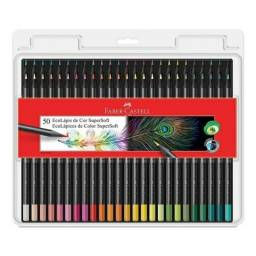 Vendo lápis Faber castell super Soft semi novo 50 cores