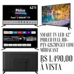 Título do anúncio: Smart TV led 42? Philco Full HD Nova