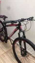 Título do anúncio: Bicicleta Aro 29 DROPP AÇO 21v Marchas Freio a Disco Shimano - Preto+Rosa