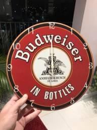 Relógio de Parede Retrô Budweiser