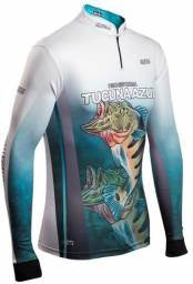 Camisa de Pesca BRK Tucunaré Azul 1.0 Com FPU 50+ - Brk Fishing