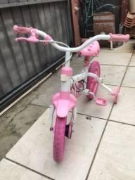 Bicicleta Caloi Cecizinha Rosa e Branco