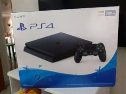 PS4 slim 500 GB conservado na caixa