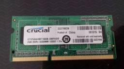 Memoria ram 2gb ddr3 para notebook e netbooks