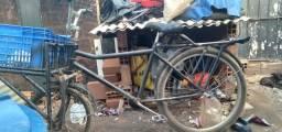 Título do anúncio: Bicicleta de carga perfeita minha de uso bagageiro dianteiro reforcado.