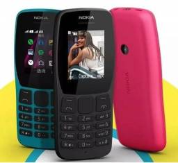 Celular Nokia 110 completo novo com 2 Chips rádio câmera