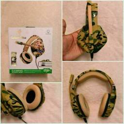 Headset Gamer Gt84 Goldenultra Camuflado - Ps4/Xbox/Pc