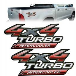 Par Adesivo Lateral Traseiro Hilux 4x4 Turbo Intercooler
