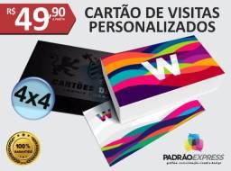 Fábrica de Cartões de visita personalizados em couchê ou verniz localizado.