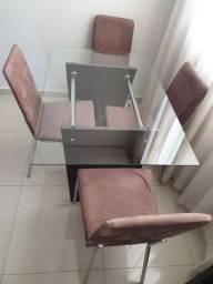 Título do anúncio: Mesa de jantar com 4 cadeiras 1,20 x 0,80