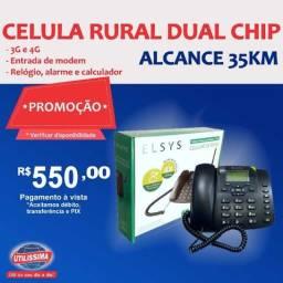 Kit Celular Rural Aquário Telefone + Cabo + Antena