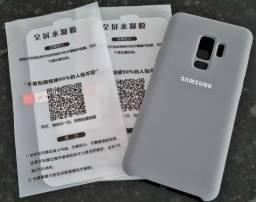 Capa traseira emborrachada para S9 Plus S9+ (cor cinza) + Duas Películas Hidrogel