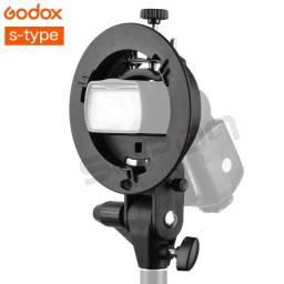 Suporte Flash Dedicado Speedlite Softbox Bowens Godox S-type