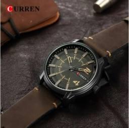 3c0b95ef0a3 Relógio Curren Quartz Luxo Militar