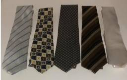 Conjunto de 5 gravatas