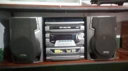 (P50) Aparelho de som Philips antigo mas em bom estado, toca muito alto: R$300. Zap e celu
