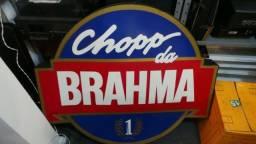 Antigo e grande painel luminoso do chopp da brahma para colecionadores!!
