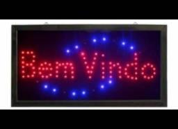 Placa Quadro Led Letreiro Luminoso Decorativo