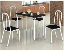 Conjunto de Mesa com Tampo MDF para Cozinha + 4 cadeiras pronta entrega-faça seu pedido