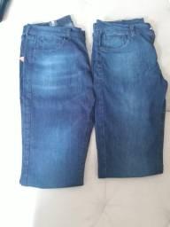 Calça jeans taco modelo slim