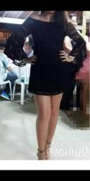 Black Friday* Vestido de Renda Preto