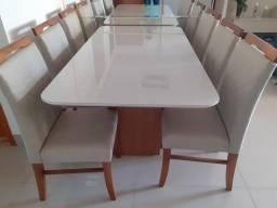 Mesa de jantar 6 lugares nova pintura laka e madeira