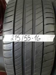Pneu 215/ 55 -16 Michelin, com 70% de vida útil sem conserto e sem vulcanizaçãoo