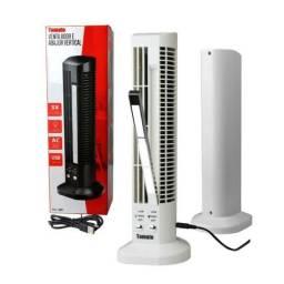 Mini Ventilador e Abajur Base Vertical MLF-002 Tomate USB Torre Led 2 velocidades