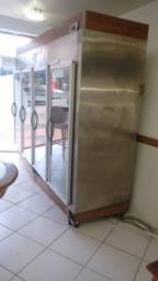 Expositor Freezer Vertical inox