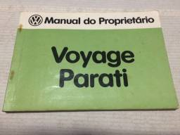 Manual Proprietário VW Voyage Parati 1984