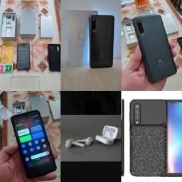 Xiaomi Mi9 Preto 64g Impecável + Xiaomi Airdots Pro + capa carregadora