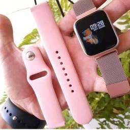 Relógio smartwatch P70 Max rose