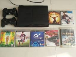 Playstation 3 desbloqueado com 7 jogos originais